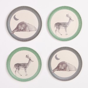 Love Mae - 4pk-plates_bear-and-deer